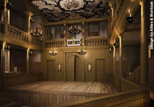 Computer-generated image of the Sam Wanamaker Playhouse, opening in 2014
