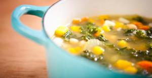 I need a cup of soup even thinking about snow-broth!