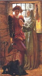 William Holman Hunt's painting of Isabella telling Claudio to prepare for his execution