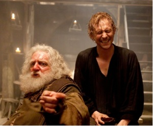 A drunk Hal and Falstaff